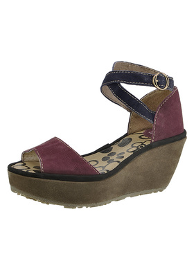 suede wedge sandals FLY London Punch Peon P500396001