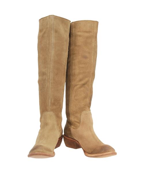 Boots Bronx Linus 13287 camel - buckskin leather